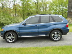 1999-2006 Bmw X-5 Complete Driver Side Rear Door With Panelshadesglassblue.