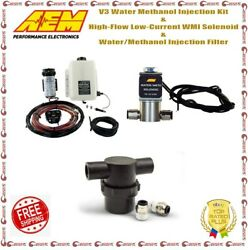 Aem V3 Water Methanol Injection Kit Low-current Wmi Solenoid + Injection Filter