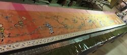 Long Antique Chinese Wedding Valance Silk Embroidery Tapestry Palace 20'