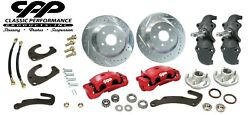 1958-64 Chevy Belair Impala Front 13 Big Brake Conversion Kit 2 Drop Spindles