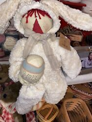 Honey And Me - 19 Primitive Raggedy Doll - Easter Bunny