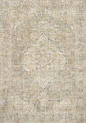 11and039 6 X 15and039 6 Loloi Rug Revere Granite Blue 100 Polyester Power Loomed