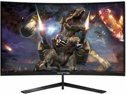 Sceptre 24-inch Curved 144hz Gaming Led Monitor Edge-less Amd Freesync Display..