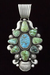 Natural Kingman And Sonoran Gold Turquoise Cluster Pendant By Albert Jake