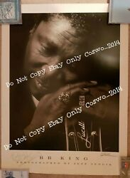 Bb King Signed Bb King Autographed Poster Pint By Photographer With Proof