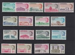 Antigua 1966 Set Of 16 Sg180-195 Incl Sg193aa Cat Andpound55 V.f Mnh