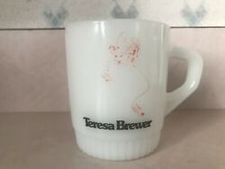 Teresa Brewer Owned Extremely Rare Anchor Hocking Fire King Monogrammed Mug