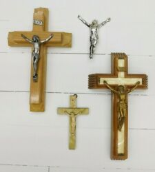 Vintage Crucifix Cross Collection Jesus On Cross A 46 $12.00