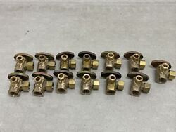 Qty 13 Brasscraft Dual Outlet Stop Valves 1/2andrdquo Fip X 3/8andrdquo And 1/2andrdquo Od Comp. New
