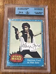 1977 Topps Star Wars Harrison Ford 58 Signed Autograph Jsa/sgc Certified Auth