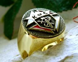 3rd Degree Knights Of Columbus Ring Bague Signet Silver Pin Patch [d67 Gp]