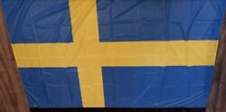 Vancouver 2010 Speed Skating Oval 5and039x7and039 Sweden Flag Non-retail Rare 5ftx7ft Huge