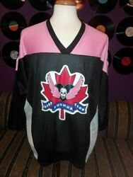 Hart Foundation Stitched Colorblock Menand039s Hockey Jersey Vtg 90s Canada Bret Owen