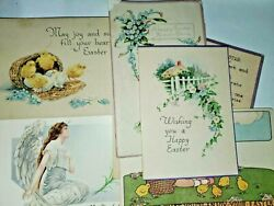 Lot Of 8 Antique 1918 And Later Easter Post Cards Same Child Posted/used