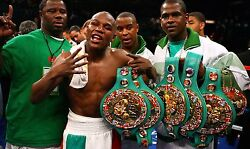 Floyd Mayweather Boxing Legend Stretched Wall Art Canvas Sports Poster Print