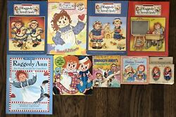 Raggedy Ann And Andy Book Lot Coloring Cards Heart Treasure Easter Vintage