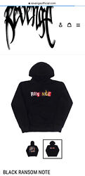 Revenge Ransom Note Embroidered Pullover Hoodie Deadstock Limited Ed Rare /100