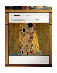 Famous Paintings Magnetic Dishwasher Door Cover Sheet, Vinyl Decorative Panel...