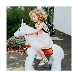 Ponycycle Official Classic U Series Ride On White Horse Unicorn Toy Plush Wal...