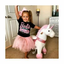 Ponycycle Official Classic U Series Ride On Horse Toy Plush Walking Animal Pi...