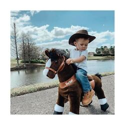 Ponycycle Official Classic U Series Ride On Horse Toy Plush Walking Animal Ch...