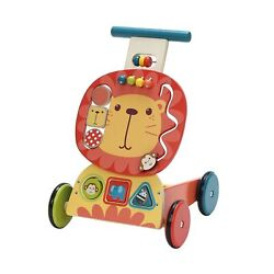 Labebe - 4 Wheels Walker For Baby, Wooden Push Wagon Toy For 1-3 Years Old Gi...