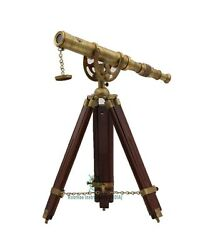 Roorkee Instruments Indian Rosewood Antique Tripod Nautical Telescopes Harbou...