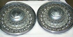 15 Chrysler Dodge Wire Spoke Hubcaps Wheelcovers 4 Used Originals