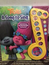 Dreamworks Trolls Deluxe Music Note Sound Book By Editors Of Phoenix New