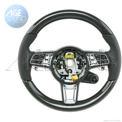 Oem Porsche Cayenne Carbon Fiber And Leather Steering Wheel Heated W. Mode Switch