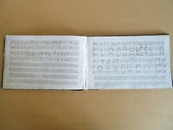 1840 Rare Handwritten Music And Verses Manuscript 54 Pages Hymns Psalms Wesleyan