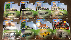 Minecraft Hot Wheels Character Cars 2021 Mix Case Entire 8 Car Series In Stock