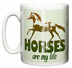 Funny Horse Mug Horses Are My Life Tea Coffee Cup Horseriding Love Gift