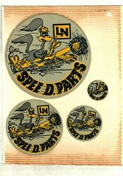 Very Nice Rare Set Of 4 Very Old Lee Norse Speedy Parts Coal Mining Stickers