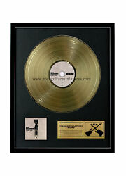 Rgm1082 Foo Fighters Echoes, Silence, Patience And Grace Gold Disc 24k Plated Lp 1
