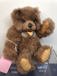 7andrdquo Vintage Steiff Fluffy 1960andrsquos Tan Brown Teddy Bear Andldquozottyandrdquo Jointed No Tag Si