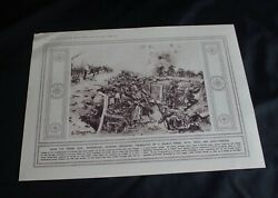 1915 Wwi Magazine Print 'germans Defending A Trench From Attack' Size10.5 X 8