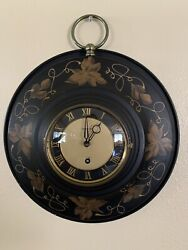 Beautiful Rare Antique German 8 Day Large Wind-up Brass Wall Clock.