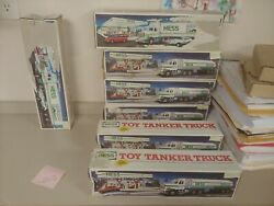Lot Of Hess 1990 Toy Tanker Trucks And Hess 18 Wheeler Racers Read Descrption