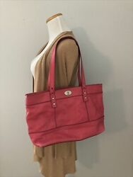 Fossil Leather Tote Bag Purse In Pink 10x16x4 $16.95