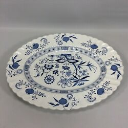 J And G Meakin Blue Nordic Large Platter England Vintage Blue Classic White 14
