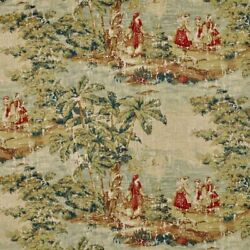 Sold By The Pair Bosporus Toile In Antique Red Gold Custom Work And Bedding Avl