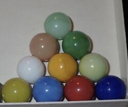 Marbles 10 Rare Christensen Agate Pastels One Of Each Color Estate Collection A