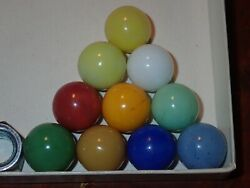 Marbles 10 Rare Christensen Agate Pastels One Of Each Color Estate Collection B