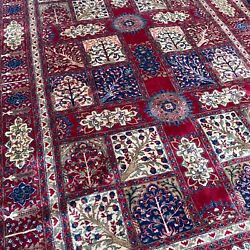 New Oriental Rug Handmade In India, Four Seasons Forest Theme, Soft Pile, 7x10
