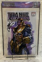 Thanos 1 Legacy Signed Josh Brolin Jim Starling Donny Cates Variant Comic Book