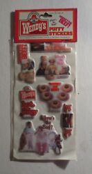 Vintage Wendy's 1984 Where's The Beef Puffy Stickers Mip 1