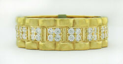 White Sapphires Eternity Rolex Style Ring 10k Gold Free Shipping New With Tag