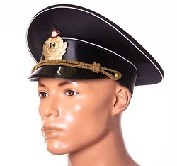 Soviet Size 58 7 1/4 Us Naval Force Navy Officer Russian Army Uniform Cap Hat
