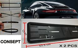 Best Qualit License Plate Covers And Frames 2pcs Consept Brand With 8 Screws Ebay